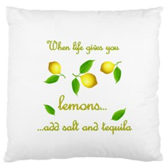 When Life Gives You Lemons Standard Flano Cushion Case (two Sides) by Valentinaart