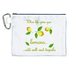 When Life Gives You Lemons Canvas Cosmetic Bag (xxl) by Valentinaart