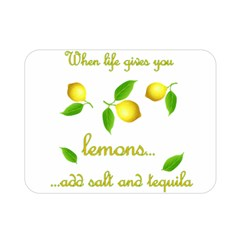 When Life Gives You Lemons Double Sided Flano Blanket (mini)  by Valentinaart