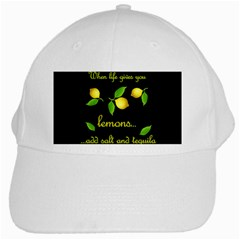 When Life Gives You Lemons White Cap by Valentinaart