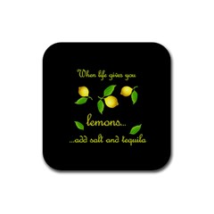 When Life Gives You Lemons Rubber Square Coaster (4 Pack)  by Valentinaart