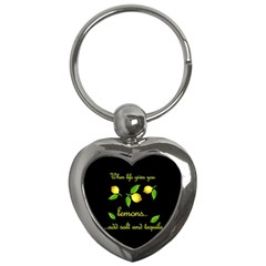 When Life Gives You Lemons Key Chains (heart)  by Valentinaart