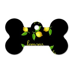 When Life Gives You Lemons Dog Tag Bone (one Side) by Valentinaart