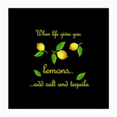 When Life Gives You Lemons Medium Glasses Cloth (2 Side) by Valentinaart