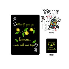 When Life Gives You Lemons Playing Cards 54 (mini)  by Valentinaart