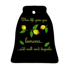 When Life Gives You Lemons Bell Ornament (two Sides) by Valentinaart