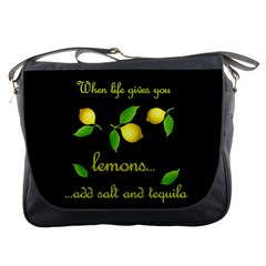 When Life Gives You Lemons Messenger Bags by Valentinaart