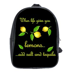 When Life Gives You Lemons School Bag (xl) by Valentinaart
