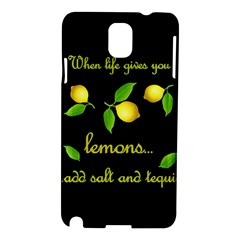 When Life Gives You Lemons Samsung Galaxy Note 3 N9005 Hardshell Case by Valentinaart