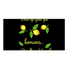 When Life Gives You Lemons Satin Shawl by Valentinaart
