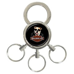 Bulldog Biker 3 Ring Key Chains by Valentinaart