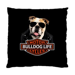 Bulldog Biker Standard Cushion Case (one Side) by Valentinaart