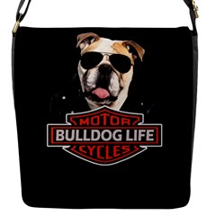 Bulldog Biker Flap Messenger Bag (s) by Valentinaart