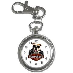 Bulldog Biker Key Chain Watches by Valentinaart