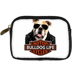 Bulldog Biker Digital Camera Cases by Valentinaart