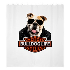 Bulldog Biker Shower Curtain 66  X 72  (large)  by Valentinaart