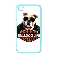 Bulldog Biker Apple Iphone 4 Case (color) by Valentinaart