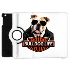 Bulldog Biker Apple Ipad Mini Flip 360 Case by Valentinaart