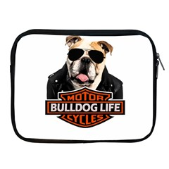 Bulldog Biker Apple Ipad 2/3/4 Zipper Cases by Valentinaart