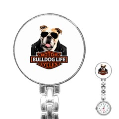 Bulldog Biker Stainless Steel Nurses Watch by Valentinaart