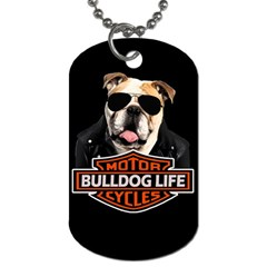 Bulldog Biker Dog Tag (two Sides) by Valentinaart