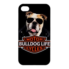 Bulldog Biker Apple Iphone 4/4s Premium Hardshell Case by Valentinaart