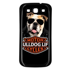 Bulldog Biker Samsung Galaxy S3 Back Case (black) by Valentinaart