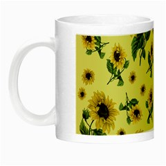 Sunflowers Pattern Night Luminous Mugs by Valentinaart