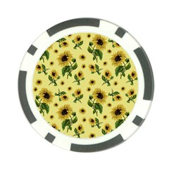 Sunflowers Pattern Poker Chip Card Guard by Valentinaart