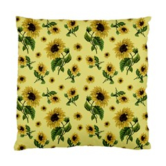 Sunflowers Pattern Standard Cushion Case (two Sides) by Valentinaart