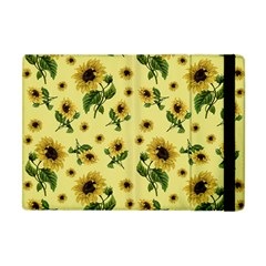 Sunflowers Pattern Apple Ipad Mini Flip Case by Valentinaart