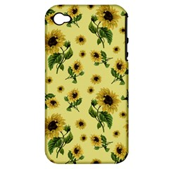 Sunflowers Pattern Apple Iphone 4/4s Hardshell Case (pc+silicone) by Valentinaart