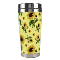 Sunflowers Pattern Stainless Steel Travel Tumblers by Valentinaart