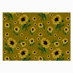 Sunflowers Pattern Large Glasses Cloth by Valentinaart