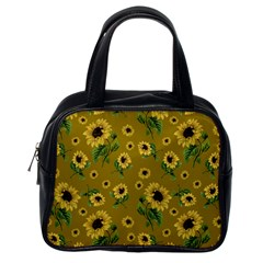 Sunflowers Pattern Classic Handbags (one Side) by Valentinaart
