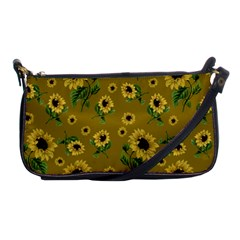 Sunflowers Pattern Shoulder Clutch Bags by Valentinaart