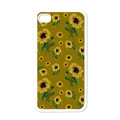 Sunflowers Pattern Apple Iphone 4 Case (white) by Valentinaart