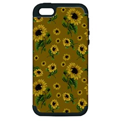 Sunflowers Pattern Apple Iphone 5 Hardshell Case (pc+silicone) by Valentinaart