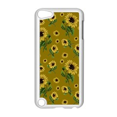 Sunflowers Pattern Apple Ipod Touch 5 Case (white) by Valentinaart