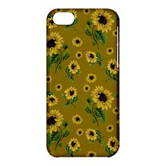 Sunflowers Pattern Apple Iphone 5c Hardshell Case by Valentinaart