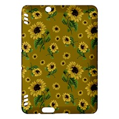 Sunflowers Pattern Kindle Fire Hdx Hardshell Case by Valentinaart