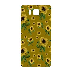 Sunflowers Pattern Samsung Galaxy Alpha Hardshell Back Case by Valentinaart