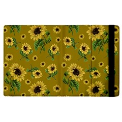 Sunflowers Pattern Apple Ipad Pro 9 7   Flip Case by Valentinaart