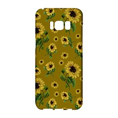 Sunflowers Pattern Samsung Galaxy S8 Hardshell Case  by Valentinaart
