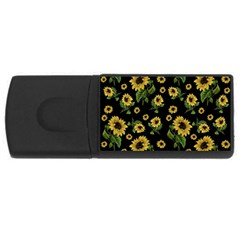 Sunflowers Pattern Rectangular Usb Flash Drive by Valentinaart