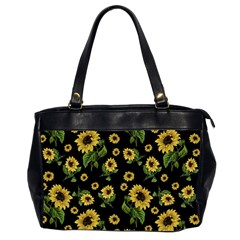 Sunflowers Pattern Office Handbags (2 Sides)  by Valentinaart