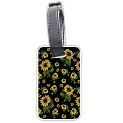 Sunflowers Pattern Luggage Tags (two Sides) by Valentinaart