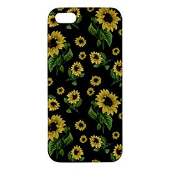 Sunflowers Pattern Apple Iphone 5 Premium Hardshell Case by Valentinaart
