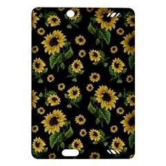 Sunflowers Pattern Amazon Kindle Fire Hd (2013) Hardshell Case by Valentinaart
