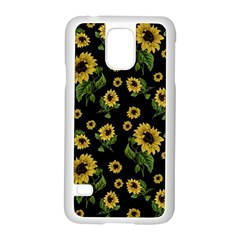 Sunflowers Pattern Samsung Galaxy S5 Case (white) by Valentinaart